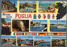 °°° Cartolina N. 41 Ricordo Della Puglia Vedutine Nuova °°° - Bari