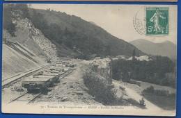 Chemin De FerASASP   Travaux Du Transpyrénéen    Rocher St Nicolas    écrite En 1912 - France
