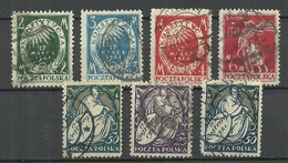 POLEN Poland 1921 Michel 164 - 170 O - 1919-1939 Republic