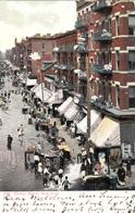New York City - Hester Street - Lot Of Animation - Simple Back - Written In 1906 - Stamp & Postmark - 2 Scans - New York City
