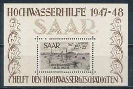Saarland Block 2 ** Geprüft Hoffmann Mi. 600,- - Ohne Zuordnung