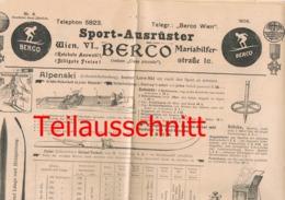 001 Sportausrüstung Berco Wien Bergsport Wintersport Bilder 1906 !!! - Pubblicitari