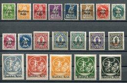 Deutsches Reich Mi Nr. 119-138* - Allemagne