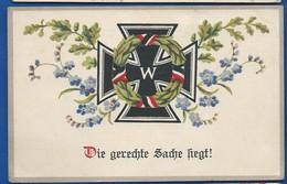 Croix De Fer  Couronne Mortuaire     écrite En 1916 - Oorlog 1914-18