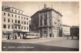 """D9330 """"TRIESTE - STAZIONE OPICINA """"ANIMATA ,TRAMWAY ,ALBERGO DELLA POSTA. CART SPED 1944 - Trieste"""