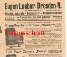 004 Fotoausrüstung Loeber Dresden Ferngläser Bilder Ca. 1900 !!! - Supplies And Equipment