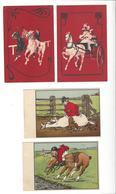 27 CARTES Cheval Hippisme équitation M.M. Vienne Humour ( 2 )  Hoffmann Chasse ( 12 ) Pub Crémieux Nantes ( 2 ) ... - Chevaux