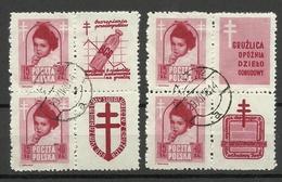 POLEN Poland 1948 Michel 514 Zf ,o - Gebraucht