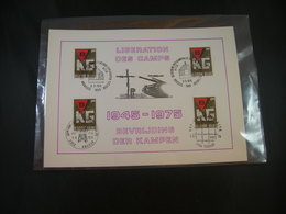 """BELG.1975 1768 FDC Filatelic Card :  """"Bevrijding Der Kampen- Libération Des Camps"""" - 1971-80"""