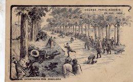 Course Paris-Madrid 1903  -  Catastrophe Pres Angouleme  -  Carte Illustrateur  -  CPA - Grand Prix / F1