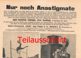 005 Fotoausrüstung Union Stöckig Dresden Ferngläser Bilder Ca. 1900 !!! - Material Y Accesorios