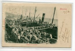 ITALIE MESSINA Imbarco Di Limoni  Port Chargement De Citrons Bateaux Quai écrite En 1902   D10 2019 - Messina