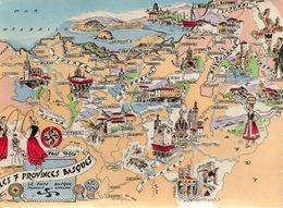 Les  7  Provinces Basques..........edit Artaud. - Mapas