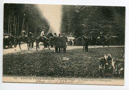 CHASSE à COURRE 120 Foret Villers Cotterets Equipage Menier Le Rendez Vous à La Montagnette No 108 Risse  écrite 1906 - Hunting