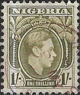 NIGERIA 1938 King George VI - 1s - Olive FU - Nigeria (...-1960)