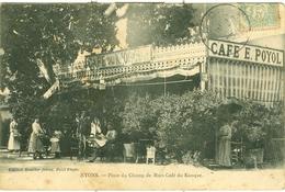 NYONS. PLACE DU CHAMP DE MARS. CAFE DU KIOSQUE - Nyons