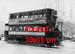 Reproduction D'une Photographie Ancienne D'un Tramway Ligne Parvis Notre Dame Clamart à Paris En 1900 - Reproductions