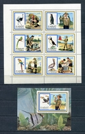 Fujeira  1972 Mi # 1012 A - 1017 A + BLOCK 107 A FAUNA BIRDS SCOUTS MNH - Fujeira