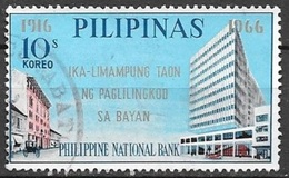 1966 10s National Bank,  Used - Philippines
