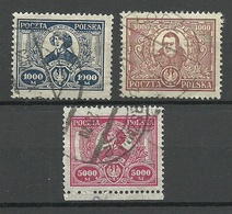 POLEN Poland 1923 Michel 182 - 184 Nikolaus Kopernikus Copernik O - 1919-1939 República