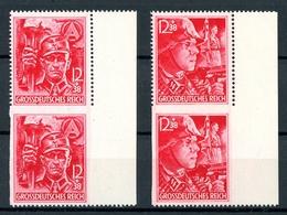 Deutsches Reich Senkr. Paare MiNr. 909-10 + 909-10 U Postfrisch MNH (B189 - Deutschland