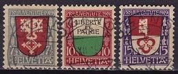 Switzerland / Schweiz / Suisse : 1919 Pro Juventute Kantonalwappen Gestempelter Satz Michel 149 / 151 - Pro Juventute