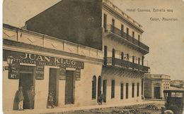 "Hotel Cosmos , Estrella Esq. Colon, Asuncion Juan Klug  Articulos Par Fotografos . Writting Machines "" Adler "" - Paraguay"