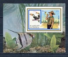 Fujeira  1972 Mi # 1018 A BLOCK 107 A FAUNA BIRDS SCOUTS MNH - Fujeira