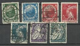 POLEN Poland 1921 Michel 164 - 170 O - Gebraucht