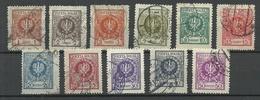 POLEN Poland 1924 Michel 201 - 211 O Various Perforations - 1919-1939 Republic