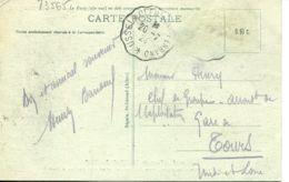 N°73565 -cachet Convoyeur Ussel à Clermont Ferrand - Spoorwegpost