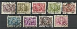POLEN Poland 1924 Michel 191 - 199 O - Gebraucht
