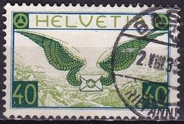 Switzerland /Schweiz / Suisse : 1929 AIRMAIL Flugpostmarken 40 C Blau / Grün Mi. 234 X - Luchtpostzegels