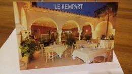 """TOURNUS -(71) Carte PUB D'hotel Restaurant. """"Le Rempart"""" (27062019) - Other Municipalities"""