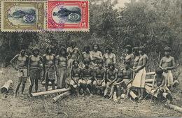 Indios  Nude Men Circulada 2 Sellos à Francia - Paraguay