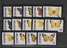 Lesotho 1991 Papillons Série 941-54 14 Val ** MNH - Schmetterlinge