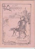 QUADERNO SCOLASTICO INVERNO LIBRERIA CARTOLERIA BORZONE LINDA AUTENTICO 100% - Libri, Riviste, Fumetti