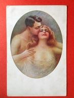 Illustrateur P. VILLA - KOPPEL SEMI NAAKT - COUPLE SEMI NUDE - Autres Illustrateurs