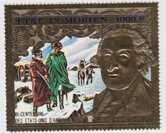 COMORES 1000F OR ** BI-CENTENAIRE ETATS-UNIS WASHINGTON N° 100 - Komoren (1975-...)