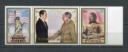 Fujeira  1972 Mi # 1099 A - 1101 A PRESIDENT NIKSON And MAO ZEDONG MNH - Fujeira