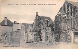 ¤¤  -   CHAOURCE   -   L'Incendie Du 10 Au 11 Mai  - Bureau De Tabac Et Boulangerie      -   ¤¤ - Chaource