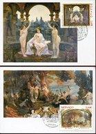 45784 Monaco 2 Maximum 2019 Paintings Of Paul Gervais, Of The Saal Casinò Of Montecarlo - Arte