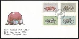 1986 - NEW ZEALAND - FDC + SG 1389/1392 + WANGANUI - FDC