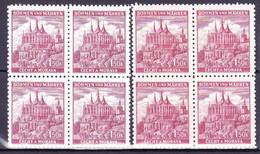Boheme Et Moravie 1941 Mi 69 (Yv 51), (MNH)** Blocs De 4 - Bohemia & Moravia