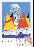 45785 Italia, Special Card And Postmark 2002 Cesenatico  Visit Of Leonardo Da Vinci - Arts