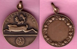 """Médaille Sportive Ancienne En Relief - Course à Pied - """"Bronze"""" - Ohne Zuordnung"""