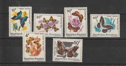 Rwanda 1965 Papillons Série 112-17 6 Val ** MNH - Farfalle