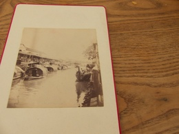 7- Photo INDOCHINE, SAÏGON, Dans Les Canaux, Pagode, Barques - Photos