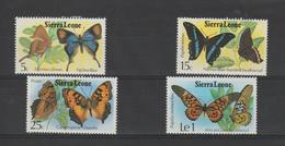 Sierra Leone 1979 Papillons Série 411-4 4 Val ** MNH - Sierra Leone (1961-...)