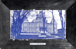 Sherbrooke Québec - New Court House And Strathcona Square - Palais Justice - Written 1910 - Stamp Postmark - 2 Scans - Sherbrooke
